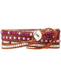 Chan Luu - 32 Dark Purplenatural Brown Wrap Bracelet - Lyst