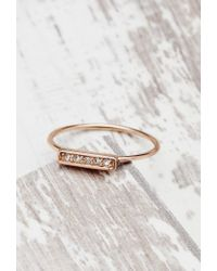 Forever 21 Pink Shashi Tracy East West Ring