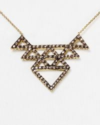House of Harlow 1960 | Metallic 1960 Tessellation Necklace, 16"