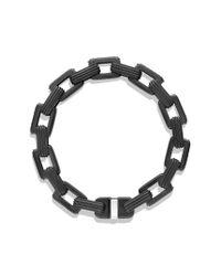 David Yurman - Black Royal Cord Link Bracelet with Ruby and Titanium for Men - Lyst