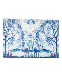 Lily and Lionel | Blue Cream Mirrored London Eye Silk-blend Scarf | Lyst
