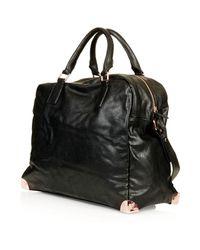 TOPSHOP - Black Metal Corner Luggage Bag - Lyst