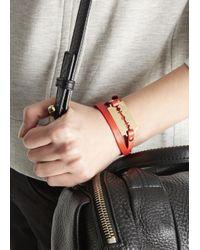 McQ | Red Razor Leather Wrap Bracelet | Lyst