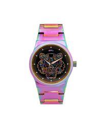 KENZO - Multicolor Tiger Head Rainbow Watch - Lyst