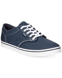 Vans Blue Women's Atwood Low Lace-up Sneakers