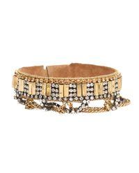 Deepa Gurnani | Metallic Chain Dangle Cuff | Lyst