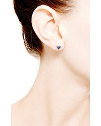 Dana Rebecca | Emily Sarah Triangle Earrings in Blue Sapphire | Lyst