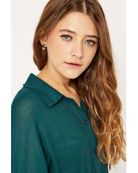 Urban Outfitters | Metallic Malachite Ear Jacket Earrings | Lyst