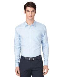 Calvin Klein | Blue Regular Fit Fine Line Dobby Shirt for Men | Lyst