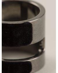 Atelier Swarovski | Black Large Viktor & Rolf 'velvet Rock' Ring | Lyst