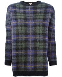 P.A.R.O.S.H. - Green 'lacheck' Sweater - Lyst