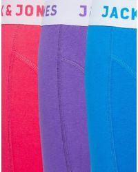 Jack & Jones | Multicolor 3 Pack Trunks for Men | Lyst