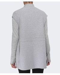 Duffy | Gray Knitted Longline Gilet | Lyst