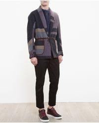 Kolor - Blue Shawl Collar Jacket for Men - Lyst