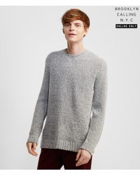 Brooklyn Calling | Gray Bouclé Sweater | Lyst