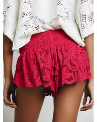 Free People | Pink Womens Kadek Textured Short | Lyst
