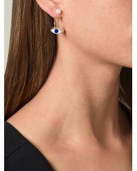 Delfina Delettrez - Metallic Eye Piercing Earring - Lyst