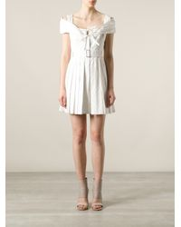 Alexander McQueen White Broderie Anglaise Dress