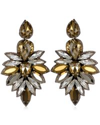 Suzanna Dai | Metallic Cuzco Drop Earrings, Champagne/crystal | Lyst