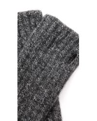 White + Warren - Black White  Warren Cashmere Rib Hand Warmers - Nickel Grey - Lyst
