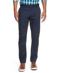Original Penguin | Blue 'p55' Slim Fit Stretch Chinos for Men | Lyst
