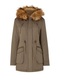 Linea Weekend | Natural Anaverna Faux Fur Lined Parka | Lyst