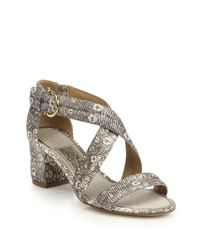 Ferragamo Gray Madrina Sandals - Roccia