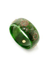 Mark Davis - Green Amethyst And Rhodolite Garnet Bakelite Bangle - Lyst