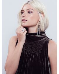 Free People - Green Womens Rosalea Velvet Dress - Lyst