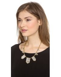 House of Harlow 1960 Metallic Engraved Classic Station Necklace