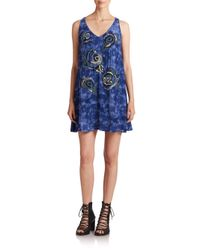 Nanette Lepore - Blue Summer Breeze Embellished Dress - Lyst