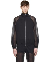 Cottweiler Blue Navy Sheer Robe Jacket for men