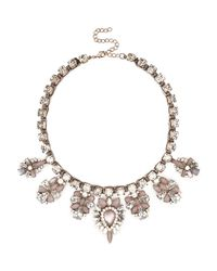 River Island - Light Pink Gem Stone Statement Necklace - Lyst