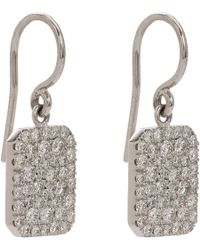 Finn | Pavé Diamond  White Gold Scapular Earrings | Lyst