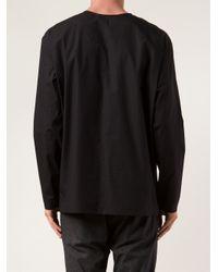 Christophe Lemaire Black Long Sleeve T-Shirt for men