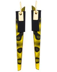 Wouters & Hendrix | Yellow 'playfully Precious' Earrings | Lyst