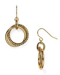 Ralph Lauren | Metallic Lauren Twisting Drop Earrings | Lyst