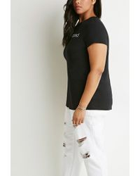 Forever 21 - Black Plus Size Not Photoshopped Graphic Tee - Lyst