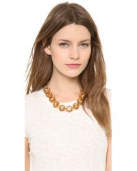 Tory Burch | Metallic Leah Short Necklace | Lyst