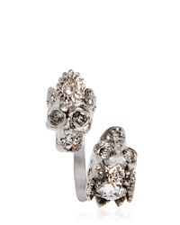Alexander McQueen - Metallic Queen & King Skulls Ring - Lyst