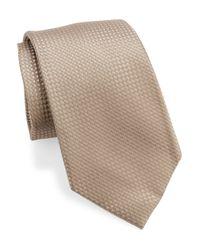 Michael Kors | Brown Carter Woven Stitch Silk Tie for Men | Lyst
