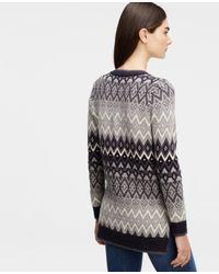 Ann Taylor - Natural Fairisle Tunic Sweater - Lyst