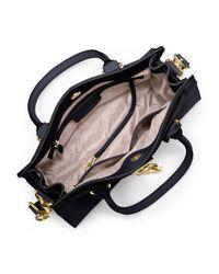 MICHAEL Michael Kors   Blue Hamilton East West Leather Satchel Bag   Lyst
