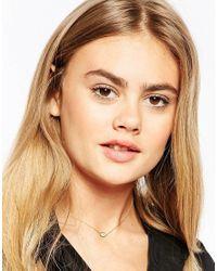 ASOS   Metallic Limited Edition Eye Choker Necklace   Lyst