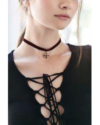 Urban Outfitters - Red Velvet Renaissance Choker Necklace - Lyst