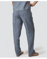 Grizas Blue Linen Trousers