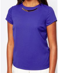 Sugarhill | Blue Hayley Top With Metal Necklace | Lyst