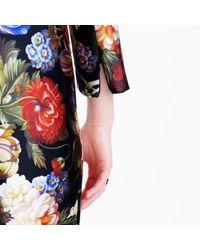 J.Crew Black Collection Dutch Floral Wrap Dress