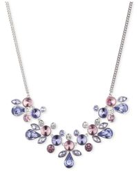 Givenchy Blue Silver-tone Crystal Collar Necklace