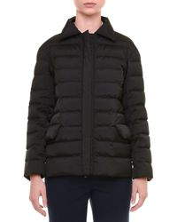 Jil Sander - Black Spread-collar Zip-front Short Puffer Coat - Lyst